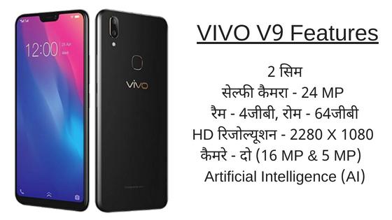 VIVO V9 Features Hindi Me
